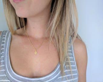 Gold Cactus Necklace | Tiny Cactus Necklace | Simple Necklace | Dainty Cactus Necklace Summer Necklace, Gold Succulent Necklace Cactus Charm