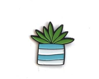 Enamel Pin // Flower Pin //  Plant Lady // Plant Enamel Pin // lapel pin