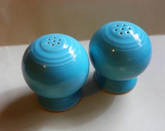 Vintage Fiesta Turquoise Salt and Pepper Shakers Original Fiestaware