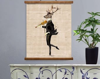 Dancing Deer  Art Print Deer Illustration wall art wall decor Wall Hanging Deer Picture Deer Stag Print
