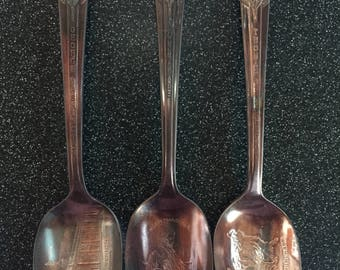 Presidential Spoons, Set of 3