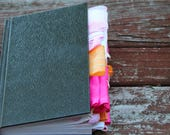 Pink, Orange, and White Altered Journal