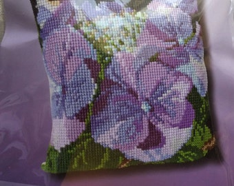 Thea Gouverneur Hydrangea Cushion Cross Stitch Kit Article No. 023.4003 Measures 40 x 40 cm Complete