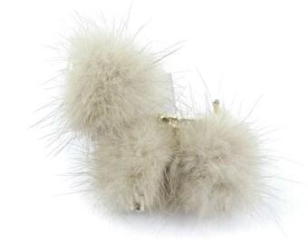 Vintage Fur Dog Brooch, Mink