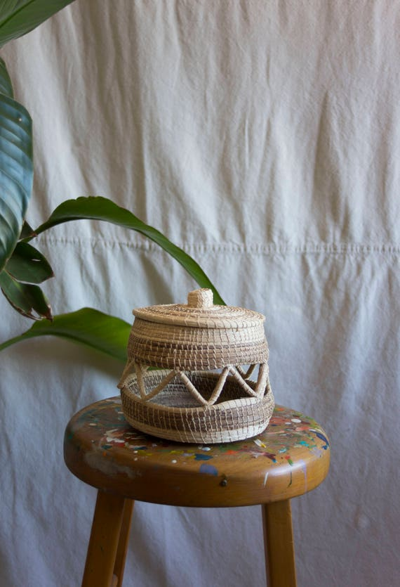 Natural Fiber Woven Slash Basket