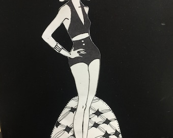 """Retro Paper Doll - """"Trudy"""""""