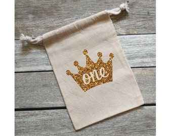 Princess Theme Birthday Party First Birthday Princess Party Bags Personalized Party Favors Glitter Party Bags Party Favor Bags