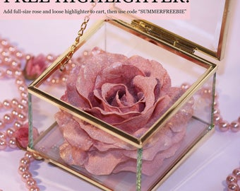Highlighter Rose Makeup and Blush Lancome Inspired in glass box