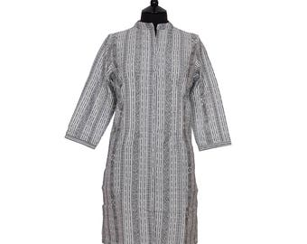 IKAT TUNIC – All sizes – White, Grey and Black – 100% cotton