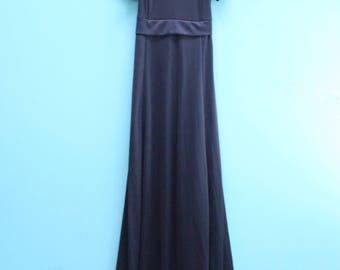 Vintage Black Maxi Dress Women's Size 00/XS [Cute Retro Performance wear/Dance Dress/Costume] 30 inch waist