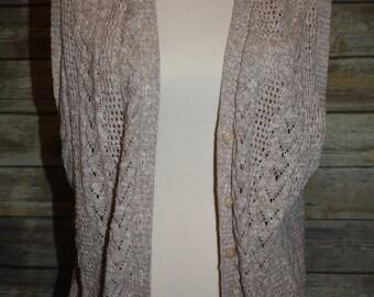Vintage beige sweater vest