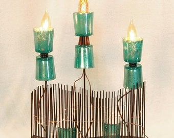 Reclaimed Wave Lamp
