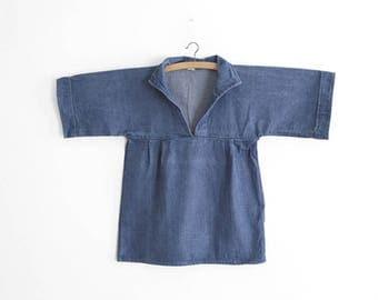 Vintage Women Work/Chore Blouse - Denim Workwear - Utility blouse