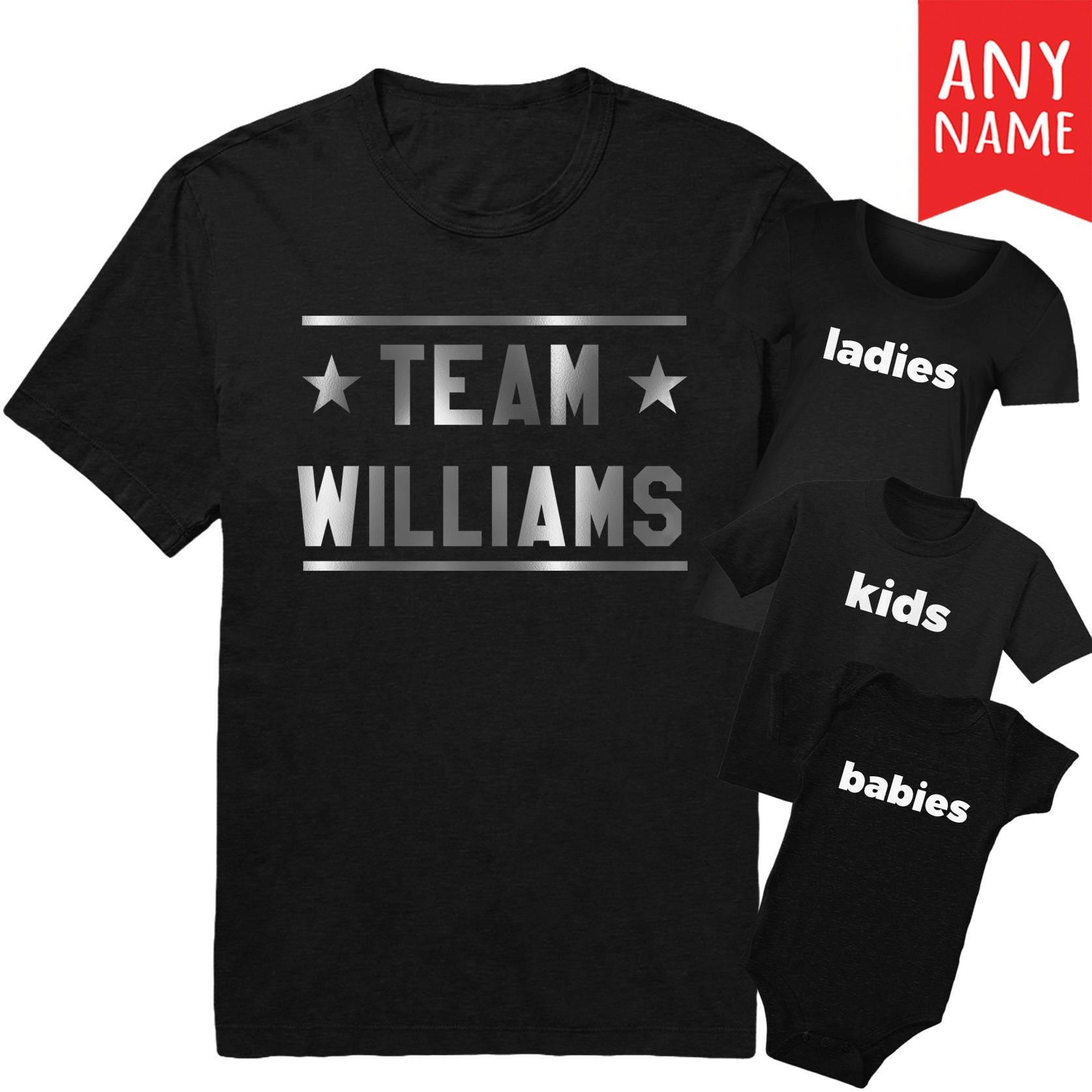 Star team family matching custom t shirts family reunion for Custom t shirts for teams
