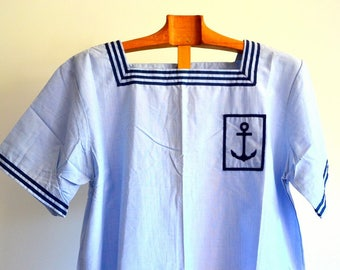 Sailor French Army Vintage Blue 1960