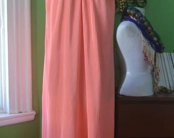 Antique Vintage Halston IV Pleated Maxi Dress - Size M/L