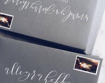 envelopes | calligraphy