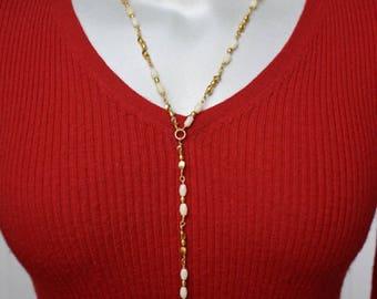 Anne Klein Lariat Necklace Vintage