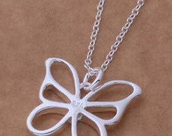 925 silver plated Butterfly Necklace