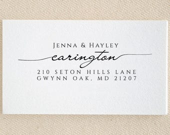 Personalized Family Names - Return Address Stamp - Custom Stamp - Self Inking Stamp - Custom Rubber Stamp - Personalized Address Stamp RE955