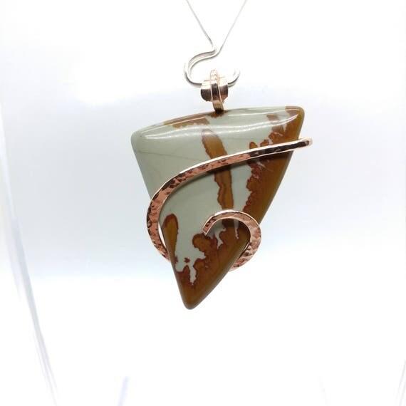 Owyhee Jasper Pendant | Oregon Picture Jasper Pendant | Oregon Picture Jasper Necklace | 14kt Rose Gold Filled | Owyhee Canyon Jasper