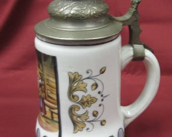 German Lithophane Beer Stein