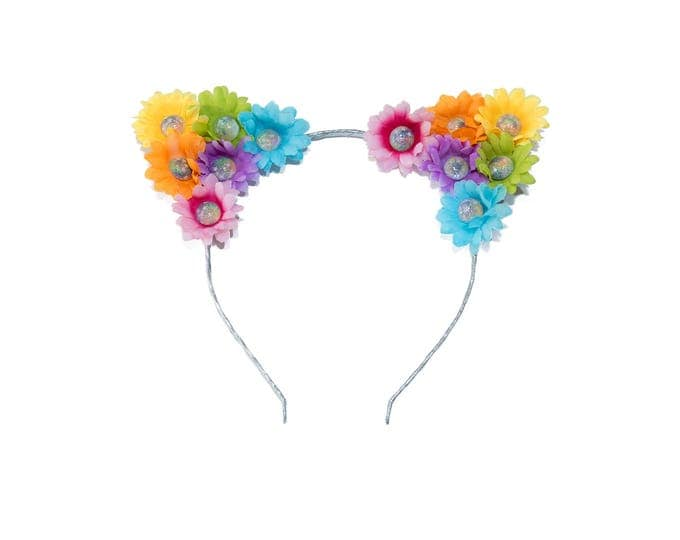 Pastel Rainbow Jewel Cat Ears Headband
