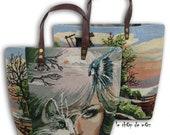 Tapestry Purse, Canvas Handbag, French Design, Dutch Mill, Le Daria