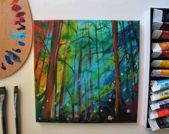 "Original Painting | ""Rainbow Forest"""