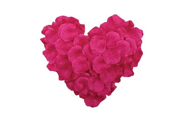 1000 hot pink rose petals decor for wedding confetti valentines il570xn mightylinksfo