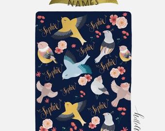 Baby blanket - Baby blanket personalised - Floral blanket - Custom baby blanket - Newborn girl - Newborn swaddle - Newborn blanket - baby
