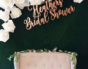 Large Bridal Shower Sign - custom wooden sign