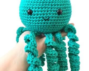 Stuffed crocheted amigurumi plush Octopus
