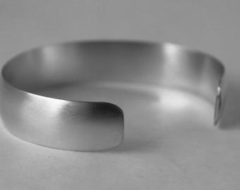 Thick Domed Sterling Silver Cuff