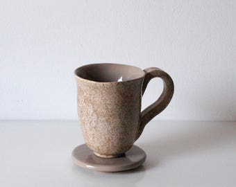 Cup, Mug, with lid, Ceramics
