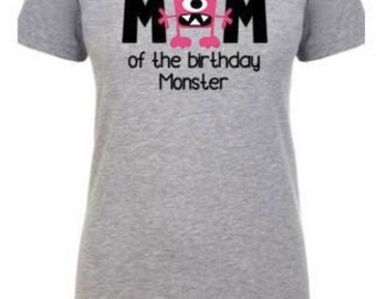 first birthday, outfit, 1st birthday boy, monster themed, party, matching parent shirts, personalized