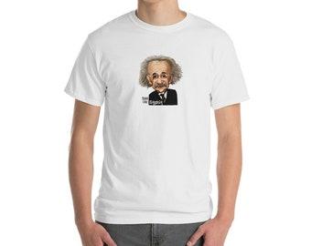 Albert Einstein shirt, Einstein tee, Einstein shirt, Think like Einstein, Einstein gift, Short-Sleeve T-Shirt