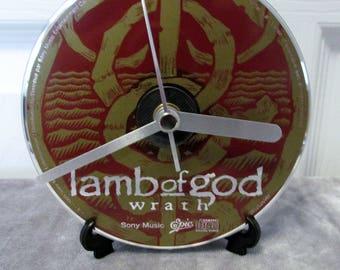 Lamb of God CD Clock Heavy Metal Decor - Wrath