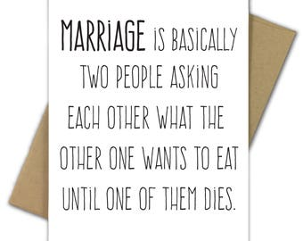 Wedding Card | Marriage | Engagement | Marriage Is Asking Each Other What to Eat