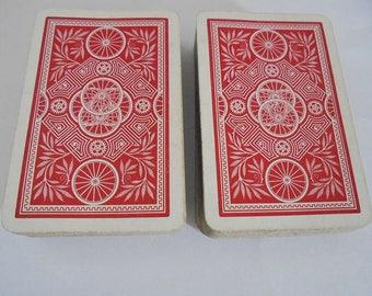 Vintage De La Rue Goodall & Sons Canasta Playing Cards Bicycle Wheel Design 1950