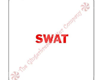 SWAT Cookie Stencil