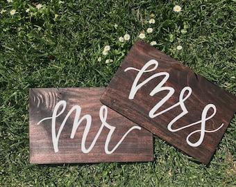 Mr. & Mrs. wedding reception signs!!