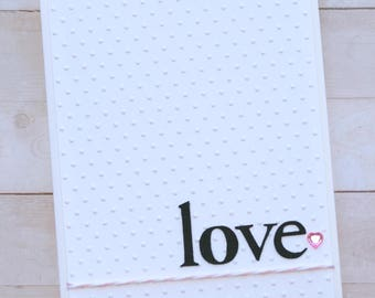 Pink Heart Love Greeting Card/Card for Husband/Card for Wife/Happy Anniversary/Congratulations/Card for Him/Card for Her/Romance Card/Pink