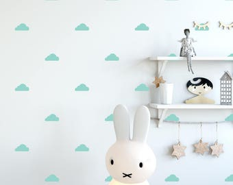 Clouds Decal - Choose Your Color, Sky Wall Decals, Stickers, Wall Decal, Scandinavian Design, Wall Decals Nursery, Space Wall Decals