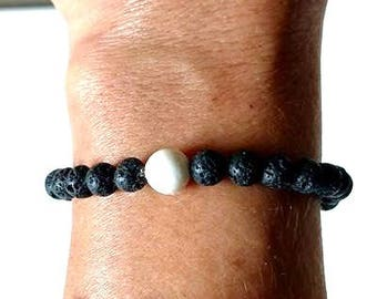 Essential Oil Aromatherapy Lava Bead White Howlite Relaxation Tranquility Bracelet