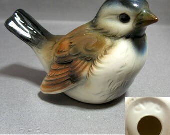 Goebel Bird Figurine, Sparrow with Blue, CV-73 West Germany