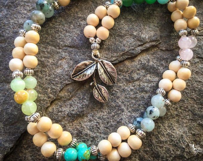 6mm Mala Beads 108 mantra japa meditation mindfulness yoga - Branch - boho jewelry handmade by Creations Mariposa