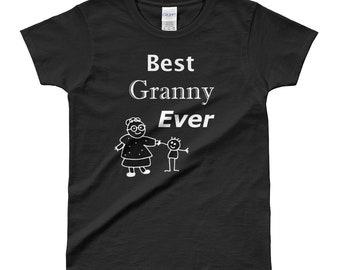 Best Granny Ever Shirt Ladies Cut T-shirt Graphic Creation