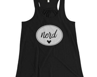 Nerd | Disney Inspired Women's Tank Top – Mickey Mouse / Disney Inspired Flowy Racerback Tank – Disney World – Disneyland –Disney Nerd