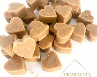 100 Loose Homemade Scottish Tablet Hearts Wedding Favours Favors